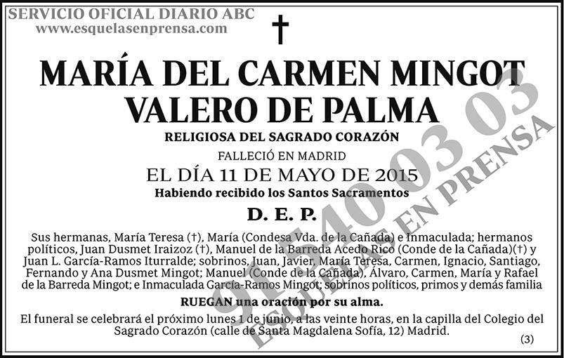 María del Carmen Mingot Valero de Palma